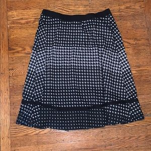 Flowy Black and White Professional Skirt